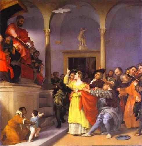 St. Lucia sent before a judge - St. Lucia sent before a judge by Lorenzo Lotto