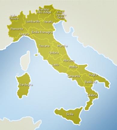 Italy - Map of Italy