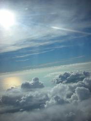 In the skies above - taken on my trip back to Goa from the aircraft - totally awesome