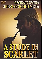 A Study in Scarlet - Sherlock Holmes smoking the pipe in his dreamy state. Study in Scarlet is a wonderful book.