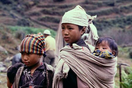 God... Show me the way please...!!!! - Photo of War-affected children in western Nepal...