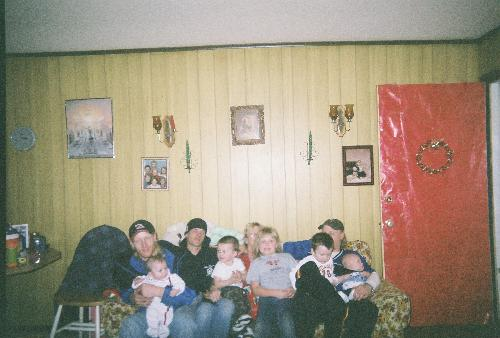 my family and grandkids - this is my sons and grandchildren taken on Dec.25,2006