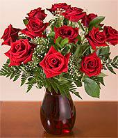 vase of roses - vase of red roses