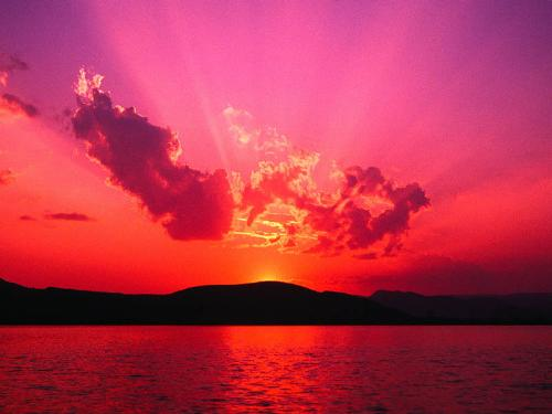 beautiful sunset - sunset is a beautiful gift of nature, wherever you watch it from - the seashore, mountaintop or just on land looking at the horizon!
