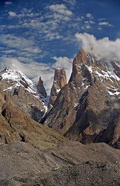 tallest cliff - the Tarango towers in Pakistan
