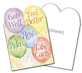 greeting card - get well soon card