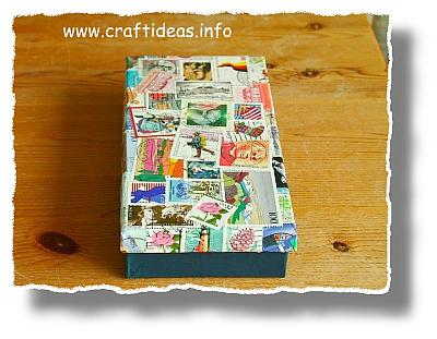 Decoupage with Stamps - Decoupage with stamps