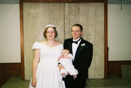 My happy Little Family - This is our wedding day. Me my husband Donald and our son Jason.