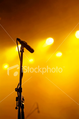mic - microphone on stage