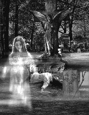 Ghosts & hauntings - A picture pertraying the ghost or spirit of a female