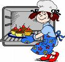 A Picture of a little girl cooking muffins. - A Picture of a little girl cooking chocolate muffins.