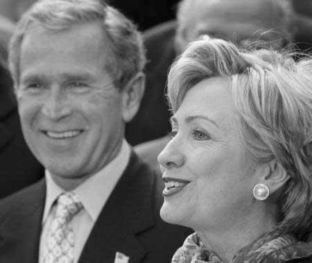 Hillary vs Bush - Great expectations.