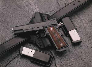 Gun - A gun is sometimes used in a mugging to intimidate a victim, but often never used to hurt the victim.