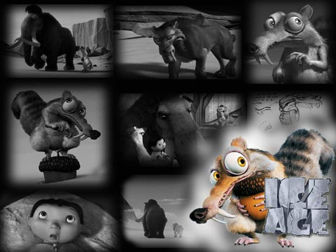 """ice age - in this photo you can see some of the caracters that apear in the """"ice age"""" movie."""