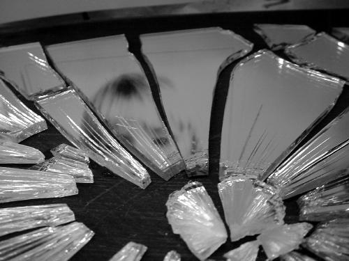stress - broken glass stands for stress and being upset or sad