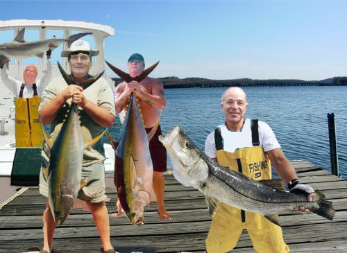 The great fishing trip - We all live in Rockport a fishing and lobstering community. Good Striper fishing here
