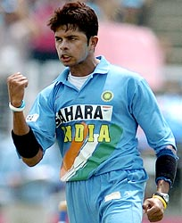 cricket - sreesanth, the new pace spear head of indian cricket team