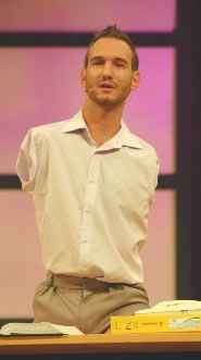 Nick Vujicic - the man in the movie