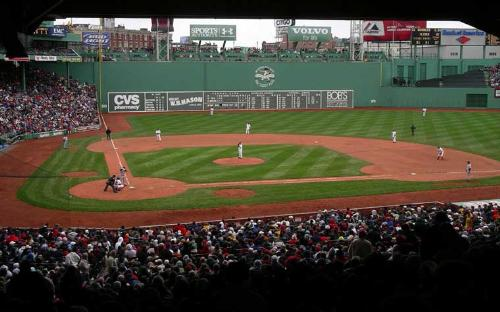 The Green Monster at Fenway Park, Boston, MA - Wow, how amazing it would be to see big Papi land one over and outside the monster.