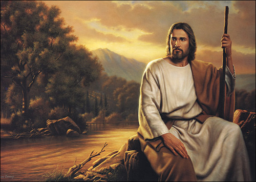 Jesus Christ by still waters - Well they say still waters run deep.  But how deep?