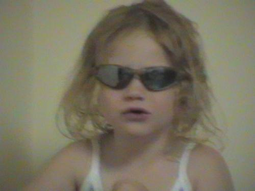 Granddaughter, Amy - Amy wearing shades in 2003