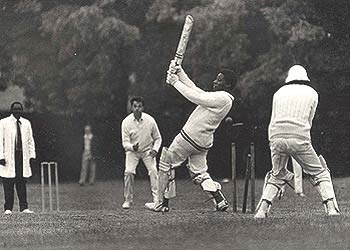 cricket in old days - cricket being played