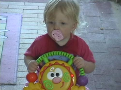 Chelsea's first trike - My granddaughter riding her first trike