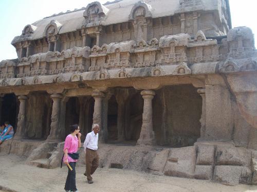 the shore temple of mahabalipuram - mahabalipuram is a beautiful place of monuments built by the pallava rulers.