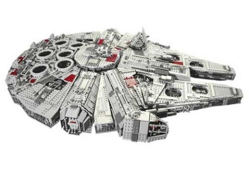Millennium Falcon made of Legos - 5,000 piece Lego set.
