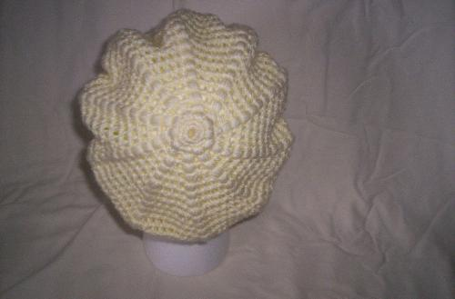 Ladies Crochet Hat - Hat I made about 1 week ago.