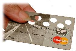 Credit Card - A hand holding a credit card.