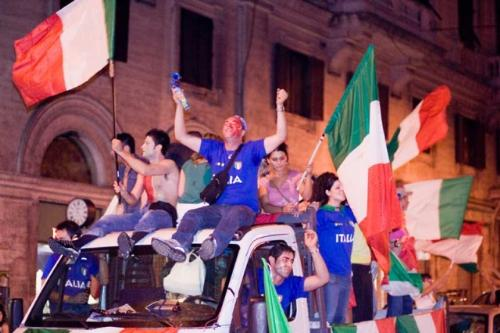 Italy fest - The fest after the final match of the world cup won by Italy...