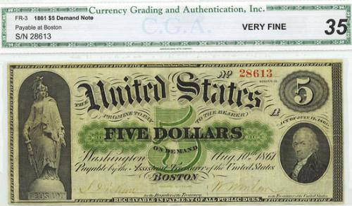 a five dollar united states - a five dollar of us