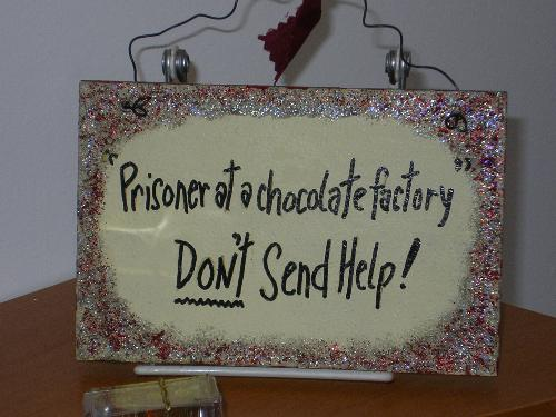Chocolate Factory - trapped in the chocolate factory - don't send help!
