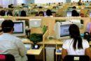 call center - busy call center