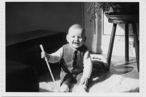 French Baby - my spouse @ 7 months old in Fougeres, France
