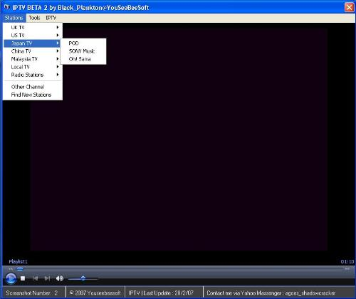 IPTV By Black_Plankton@YouSeeBeeSoft - This is sample IPTV Application. Made by Visual Basic 6 and Compatible with windows XP, Windows Vista. Try it!! And give a comment