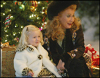 Endora with her mother, Tabitha - This is a picture of Endora out with her mother during the Christmas time. She is enjoying the festivites going on.