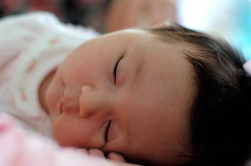 Sleeping baby - sleeping time
