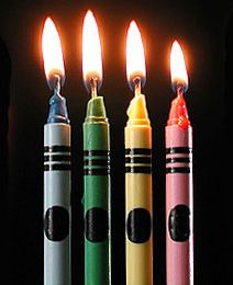 Blow out the candles and make a wish! - Picture of several candles.