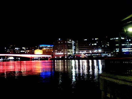 London Bridge and the City in Lights - You can look at the Glowing London Bridge in Red.. and the city in Lights looks at its best