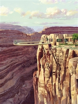 Glass bottomed walkway over the Grand Canyon - Glass bottomed walkway Over the Grand Canyon
