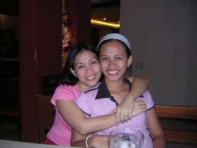 pretty faces of the century - This picture was taken during my sister's 26th birthday. And yeah! We are very close to each other. We tend to have misunderstandings sometimes, but it will just pass by. I love her so much!:)