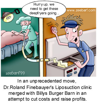 lipo and burgers - combining liposuction and burgers