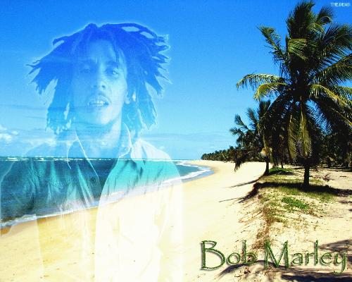 Bob Marley - this is a picture of Bob Marley and the island