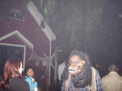 Halloween event - This is a picture from a Halloween event that I went to a while back. The werewolf in the picture scares the people as they go by. If you haven't had the chance to go to one of these, you should...It is a great time.