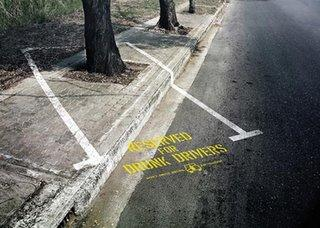 cars - drunken drivers are requested to park their cars seafely