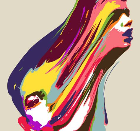 2 of me - can you see? - A picture of 2 personalities trapped as 1 mass. Very colorful and artistic.
