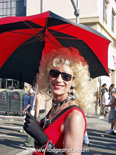 transvestite - This person is a transvestite. They are a male dressing as a female. They may or may not be transgender, but they have not gone through surgeries. i think she looks really cute!