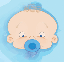 Baby - Baby sucking on pacifier